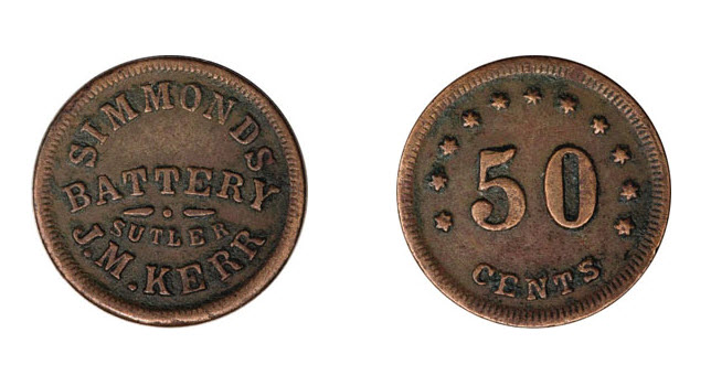 50 cent Civil War Sutler Token