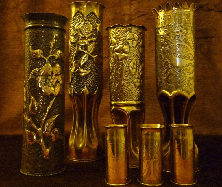 Various Trench Art Shell Casings