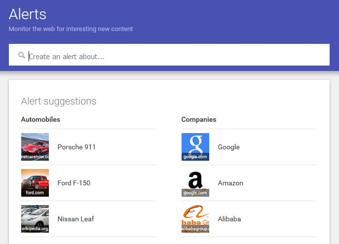 Visit Google Alerts