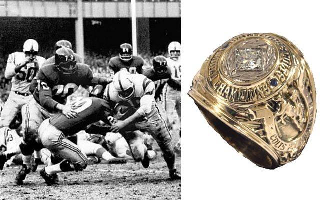 1958 Baltimore Colts NFL World Championship Ring