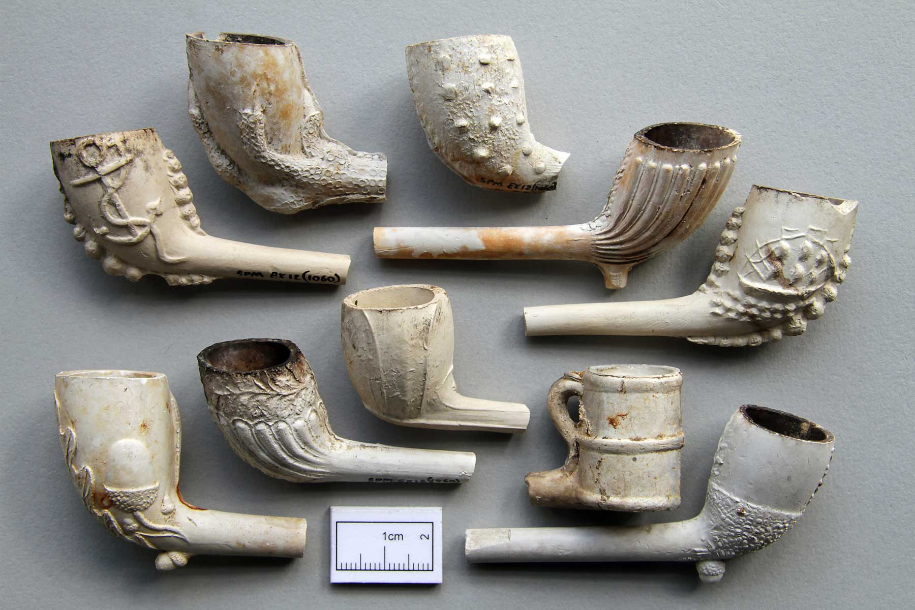 Ornate Clay Pipes