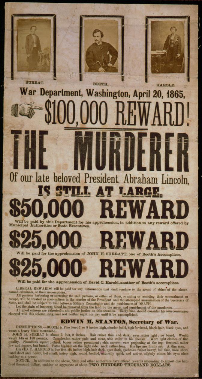 John Wilkes Booth Broadside