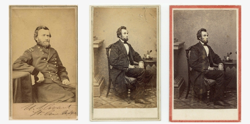 Carte De Visite Photographic Portrait Craze