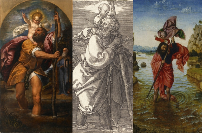 Saint Christopher Paintings