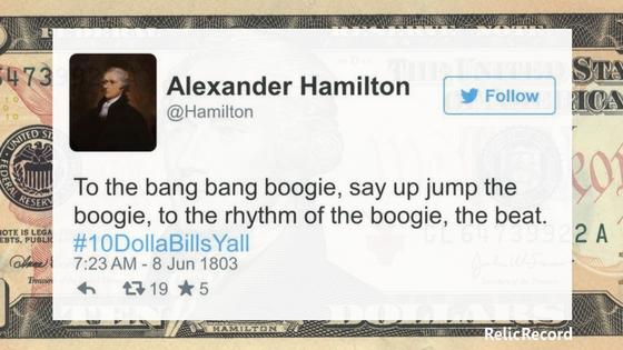 Alexander Hamilton Twitter History