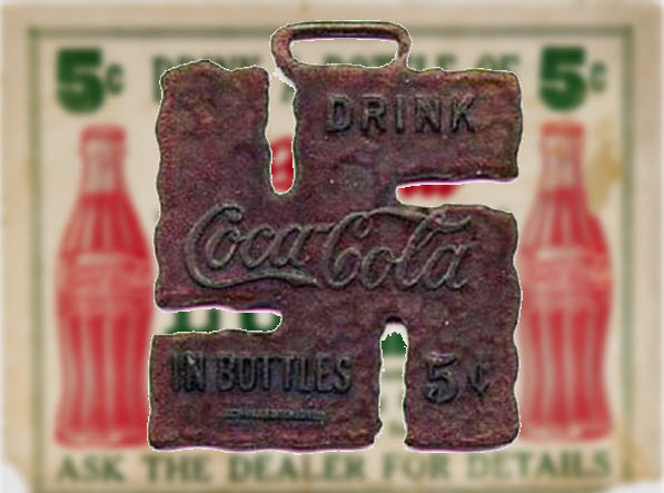 Coca-Cola Watch Fob Swastika