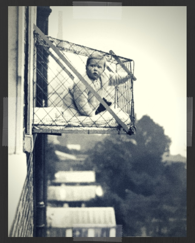 Vintage Baby Cage