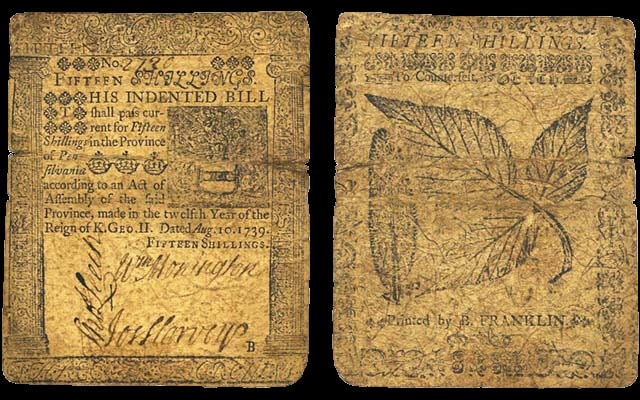 Benjamin Franklin Paper Money