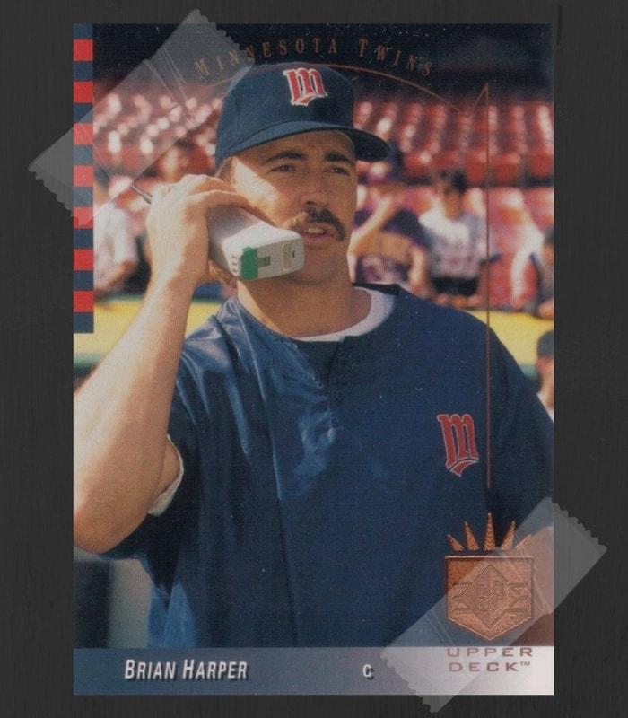 Brian Harper Baseball Card