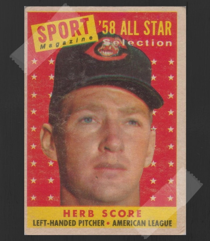 Herb Score Baseball Card