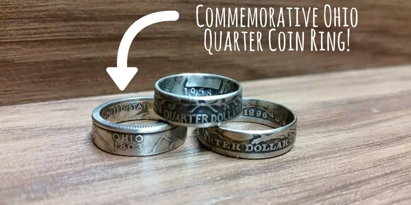 Commemorative Ohio Quarter Coin Ring