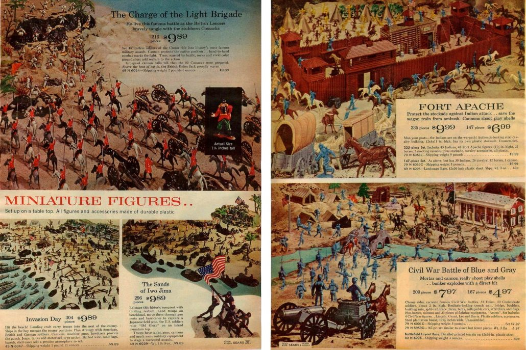 1964-Sears-British-Lancers-Invasion-Day-Iwo-Jima-Fort-Apache-Civil-War-Blue-Gray