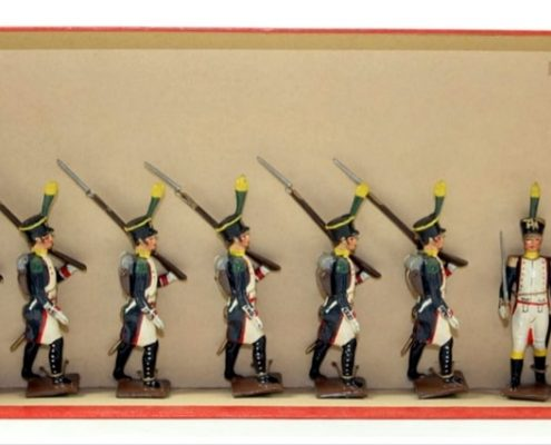 Toy Soldiers Prepare Battle