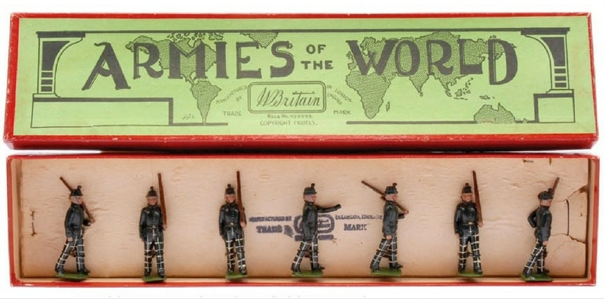 William Britains Toy Soldiers Set The Cameronians 1940