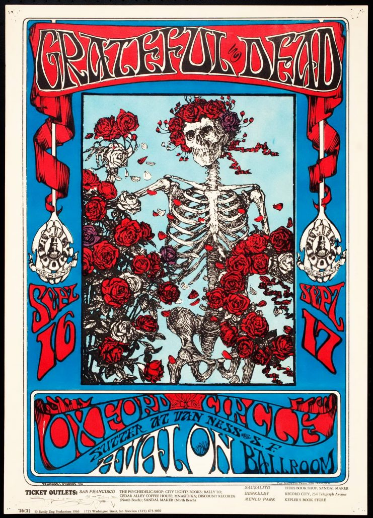 Avalon Ballroom Grateful Dead Poster