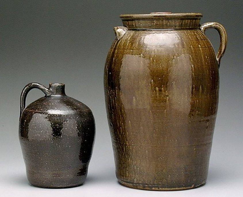 Stoneware Jug and Churn