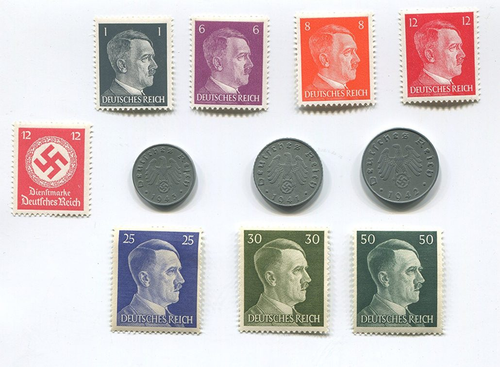 Nazi Third Reich Stamps and Coins