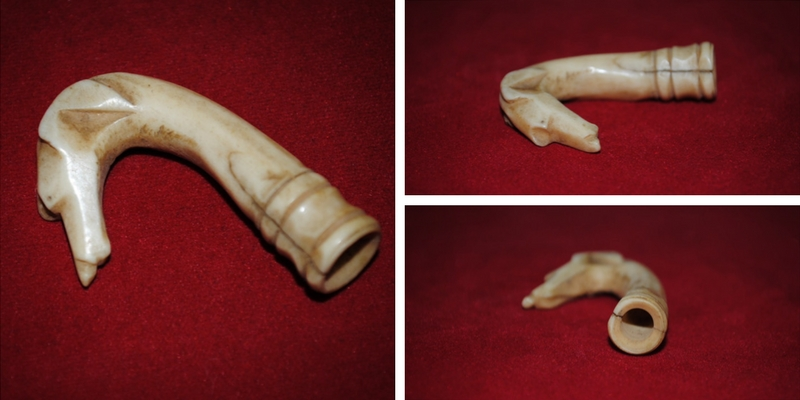 Carved Civil War Bone Dog