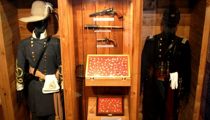 Civil War Uniform Display
