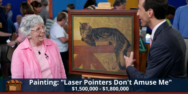Antiques Roadshow Cat Painting