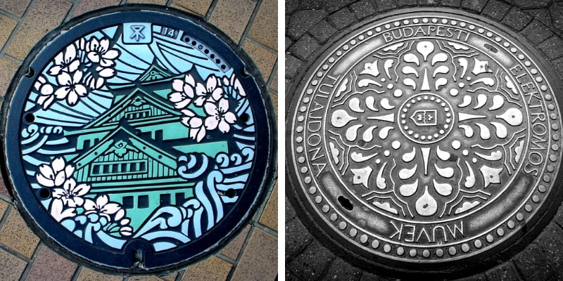 Manhole Covers in Japan and Budapest
