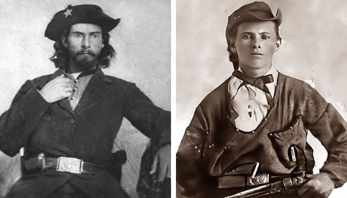 Bushwhackers Bloody Bill Anderson and Jesse James.